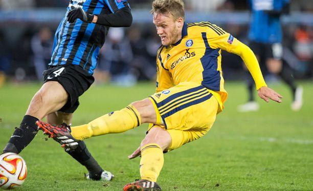 Mika Väyrynen pelasi HJK:ssa viimeksi joulukuussa 2014 Club Bruggea vastaan.