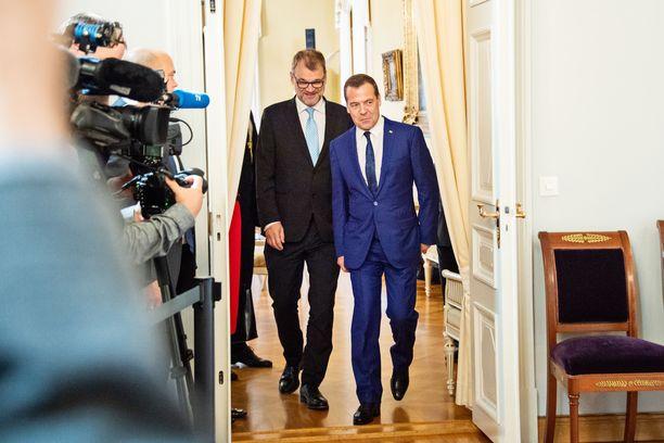Sipilä ja Medvedev tapasivat keskiviikkona toisensa jo neljättä kertaa.
