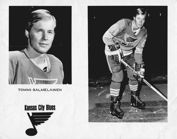 Tommi Salmelainen Kansas City Bluesin PR-kuvassa kaudella 1969–70.