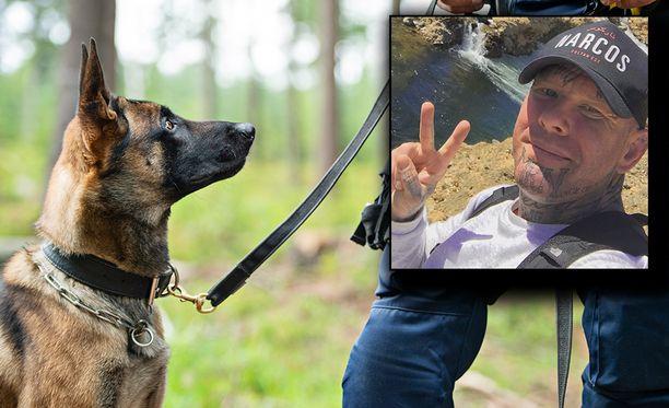 Janne Tranberg esittää kirjassa väittämiä siitä, miten hän on onnistunut pakenemaan poliisia. Taustalla kuvituskuva.