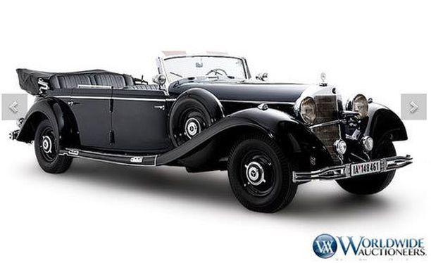 Hitlerin Mercedes-Benz 770K Grosser nähtiin sodan historiallisella näyttämöllä.