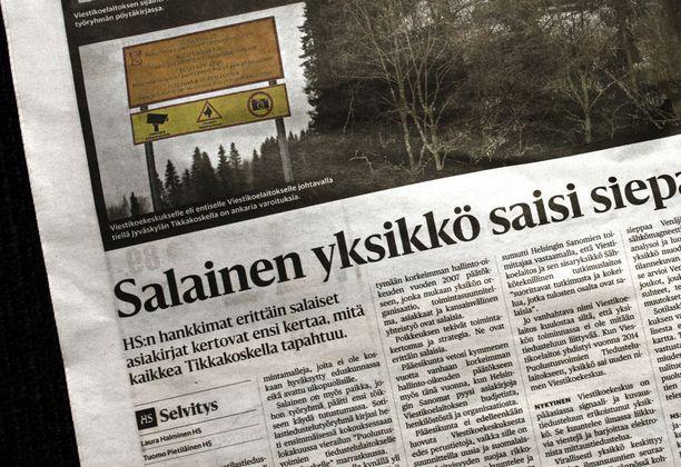 Keskusrikospoliisi tutkii Helsingin Sanomien uutisointia turvallisuussalaisuuden paljastamisena.