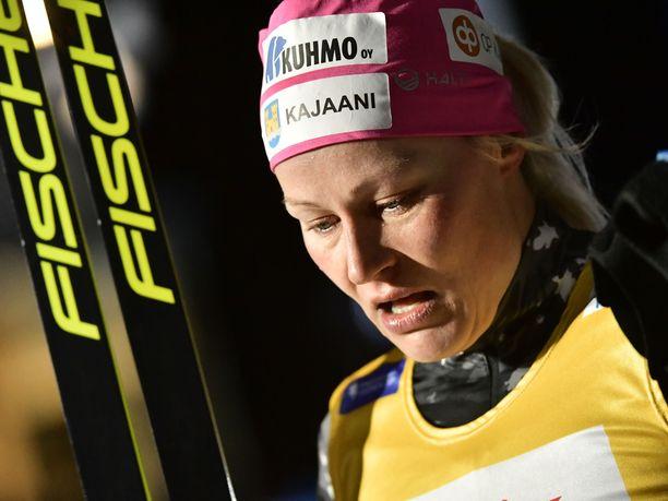 Anne Kyllönen piti parasta vauhtia naisten vitosella.