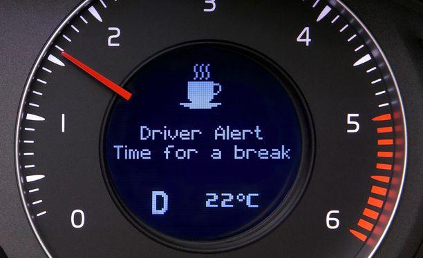 Vireystilan vahti tulee pakolliseksi.  Tämä kuva jo vuodelta 2007, jolloin Volvo oli ensimmäisten joukossa ottamassa järjestelmää käyttöön.