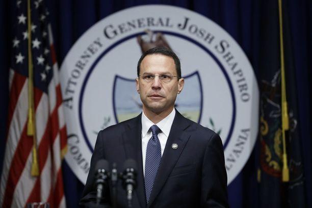 Pennsylvanian oikeusministeri Josh Shapiro julkisti johtamansa 1,5-vuotisen tutkimuksen tuloksen tiistaina.