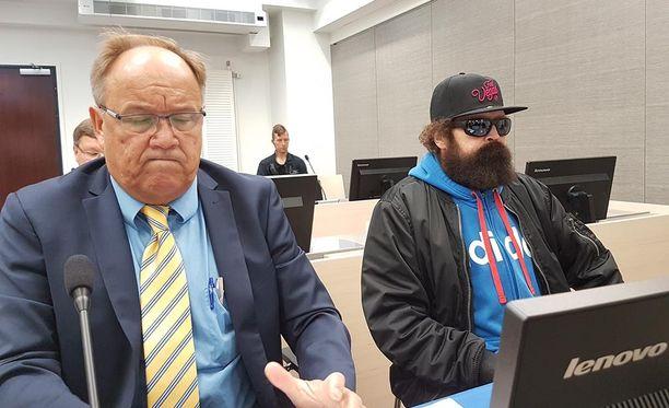 Pekka Seppänen oikeudessa tänään.