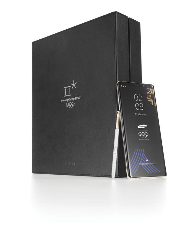 Myös pakkaus eroaa normaalista Galaxy Note 8 -pakkauksesta.