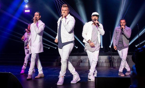 Backstreet Boys keikallaan kesällä 2018.