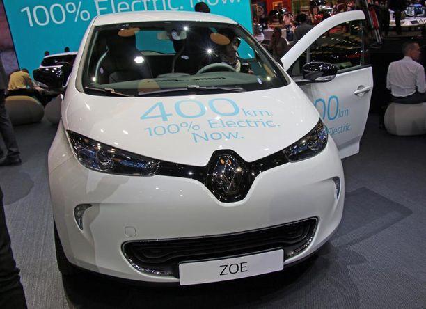 5. Renault Zoe sähköautolle luvataan jopa 400 kilometrin toimintamatka.