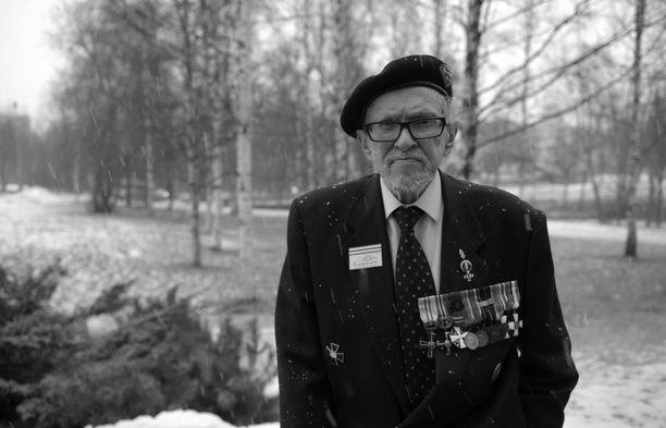 Reino Lehväslaiho oli kunnioitettu veteraani, panssariässä ja sotakirjailija. Arkistokuva.