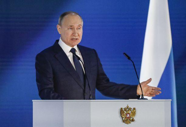Venäjän presidentti Vladimir Putin esitti vuotuisessa puheessa epämääräisen varoituksen länsimaille.