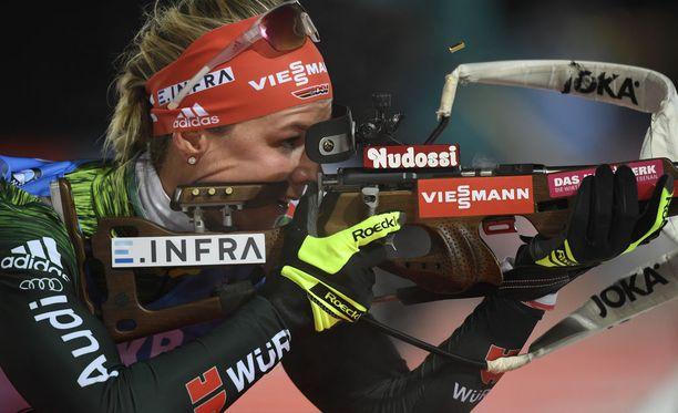 Denise Herrmann tuli vain puolentoista vuoden treenillä maailmancupin voittajaksi.