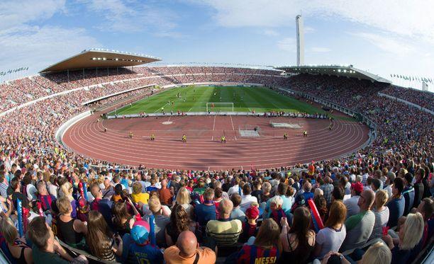 Olympiastadionin remontti etenee.