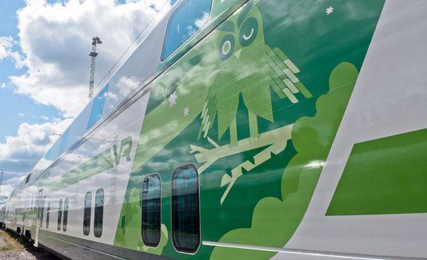 VR:n superjunaa ei ole vielä kasattu, joten siitä ei ole kuvia saatavilla. Kuvassa VR:n Intercity-juna.