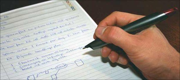 Ruotsalaisyrityksen kehittämä älykynä tunnistaa hankalammankin käsialan.