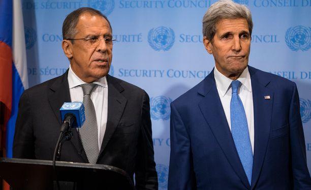 Sergei Lavrov ja John Kerry pohtivat YK:n yleiskokouksessa Syyrian tilannetta.