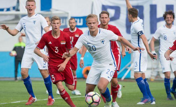 Joel Pohjanpaloa hävetti tasapeli Liechtensteinia vastaan.