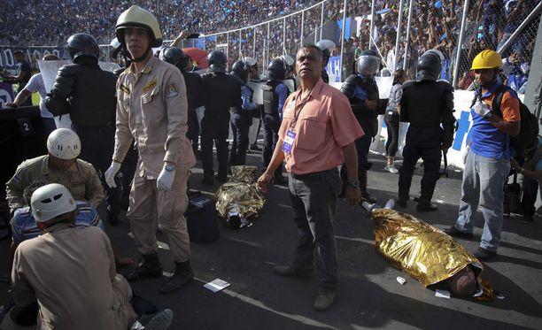 Estadio Tiburcio Carías Andino -areenalla tallautui ihmisiä kuoliaaksi.
