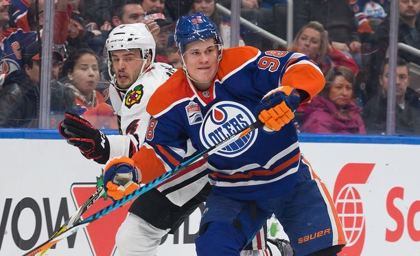 Jesse Puljujärvi pelasi viime kaudella NHL:ssä 28 ottelua tehoin 1+7=8.