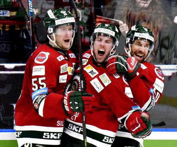 Frölunda on SHL:n hallitseva mestari voitettuaan finaalit keväällä 2019.
