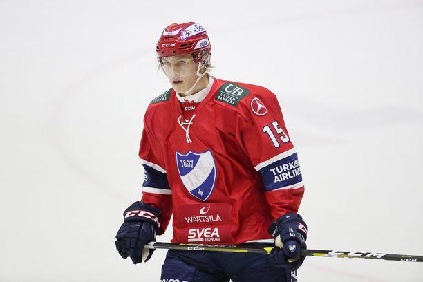 Anton Lundell osui kahdesti KalPaa vastaan.