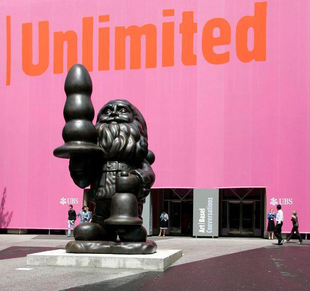 Tämä työ nimeltä Joulupukki oli vaikea pala Hollannin Rotterdamissa vuonna 2011. Kuva Baselista, Sveitsistä vuodelta 2007.