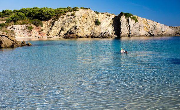 Suosittu lomakohde Menorca on yksi Espanjan saarista. Kuvituskuva.