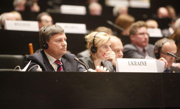 Ukrainan delegaation edustaja Artur Gerasymov.