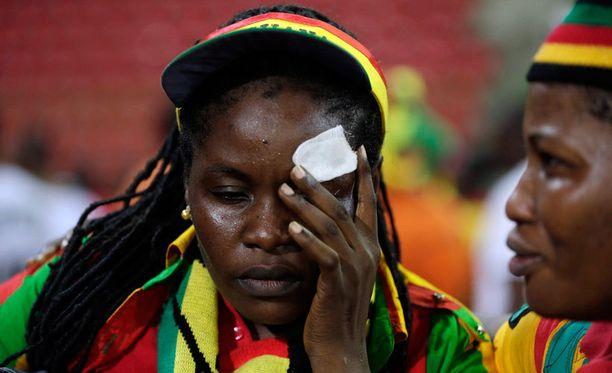 Ghanan kannattajat kokivat kovia, vaikka oma joukkue voittikin.
