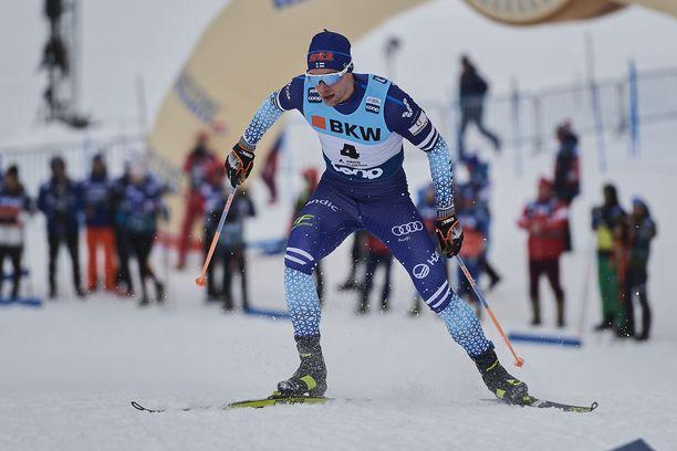 Joni Mäki oli miesten sprinttikarsinnan paras suomalainen.