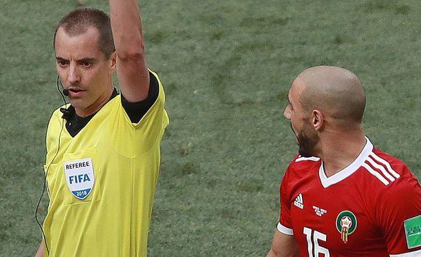 Nordin Amrabat (oikealla) syytti Mark Geigeriä Cristiano Ronaldon fanittamisesta.