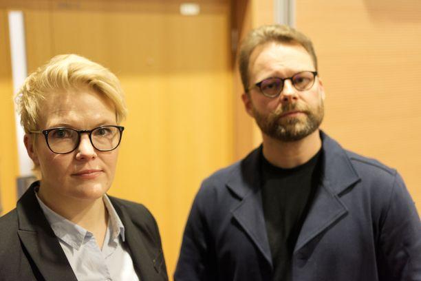Poliisi Maria Rossi ja psykologi Mikko Ylipekka työskentelevät seksuaalirikollisuuden parissa.