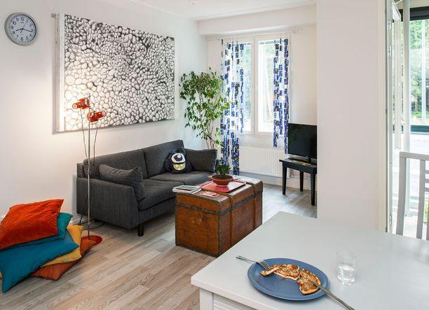 Euroopan surimmasta puukerrostalosta löytyy vuokra-asunto, joka on messuja varten sisustettu nuoren miehen ensikodiksi. Huonekalut ovat kierrätettyjä tai sukulaisilta saatuja.