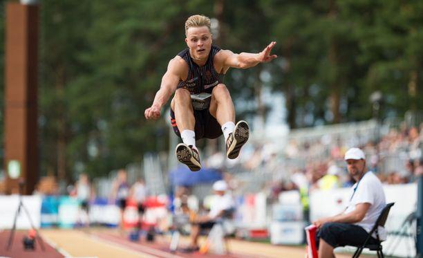 Kristian Bäck oli hyvin lähellä yltää EM-rajaan Kalevan kisoissa.