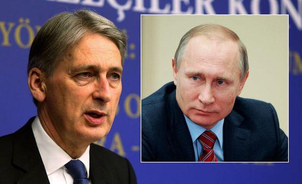 Britannian ulkoministeri Philip Hammond moittii Venäjän toimintaa Syyriassa.