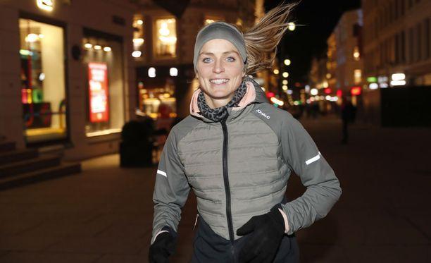 Therese Johaug osallistui maanantaina yhteistyökumppaninsa tilaisuuteen Oslossa.