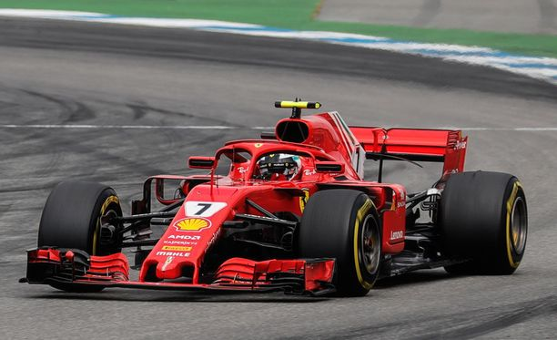 Kimi Räikkönen kaasutteli kolmanneksi Saksassa.