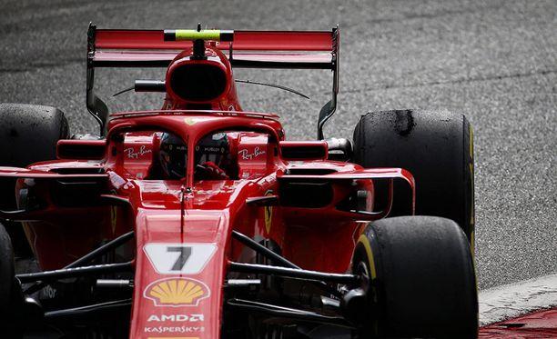 Kimi Räikkösen takarenkaista katosi pito jo kauan ennen Italian GP:n ratkaisua.