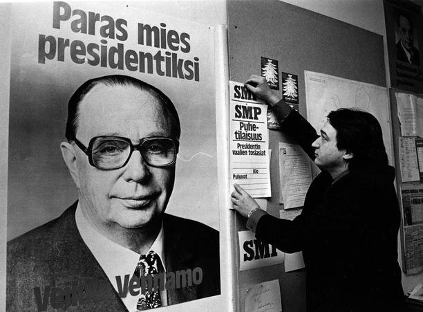 Suomen Maaseudun Puolueen ehdokas Veikko Vennamo sijoittui vaaleissa kolmanneksi. Hänen ääniosuutensa oli 4,68 prosenttia.