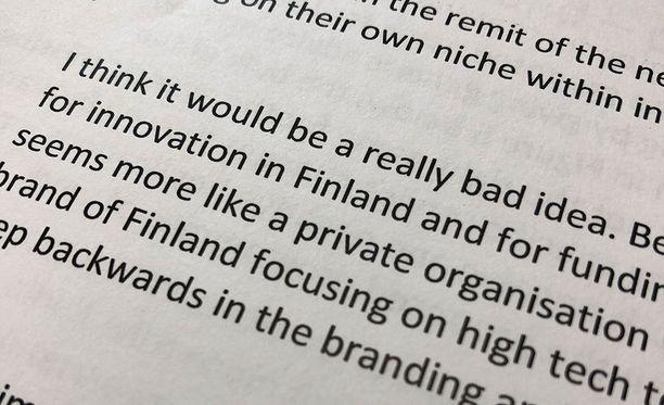 Business Finland ei kerännyt nimenä juurikaan kehuja. Se valittiin siitä huolimatta.