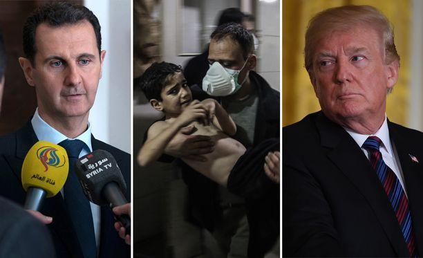 Uutitoimisto AFP kertoo Syyrian valtiollisen median uutisoineen, että iskuissa on kuollut ja haavoittunut useita ihmisiä. USA on kiistänyt tehneensä iskun.
