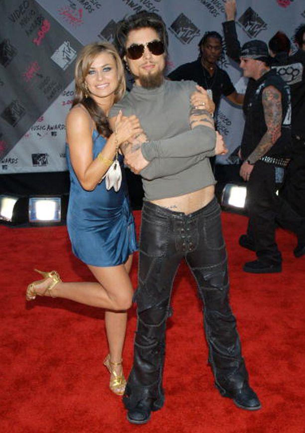 Carmen Electralla ja Dave Navarrolla oli vaikeuksia pitää näppejään erossa toisistaan vuonna 2003.