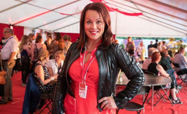 Heidi Pakarinen oli mukana vastikään Tangomarkkinoiden humussa.