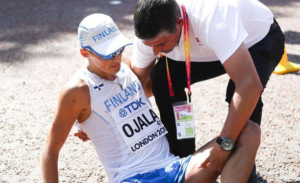 Aleksi Ojala ei käveli Lontoon MM-kisoissa neljänneksitoista 50 kilometrin kisassa.