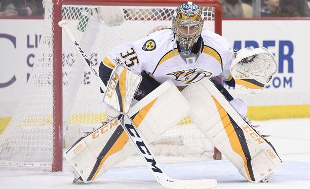 Pekka Rinne torjui kaikki Edmontonin kudit.