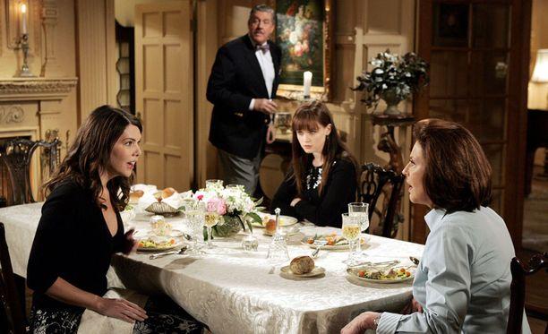 Gilmoren tyttöjen ruokapöytäkeskustelut olivat oleellinen osa sarjaa.