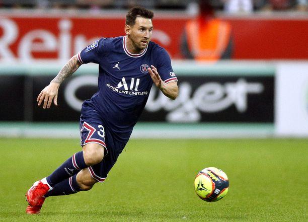 Lionel Messi pelasi ensimmäistä kertaa PSG:n väreissä.