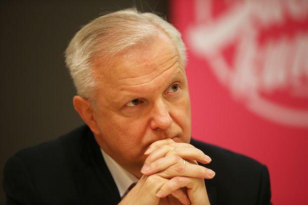 Entinen elinkeinoministeri Olli Rehn ei ole asettumassa ehdolle, sillä hän aloitti Suomen Pankin pääjohtajana heinäkuun puolivälissä.