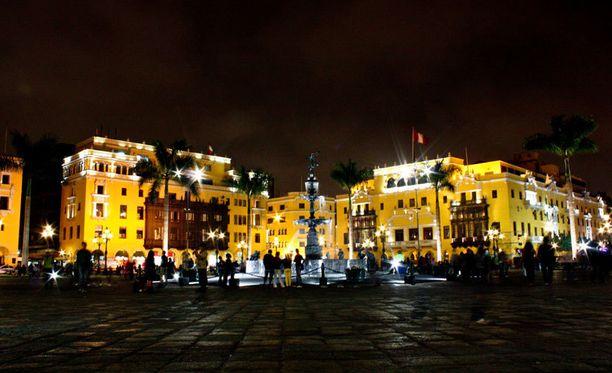 Plaza Mayor Liman historiallisessa keskustassa.