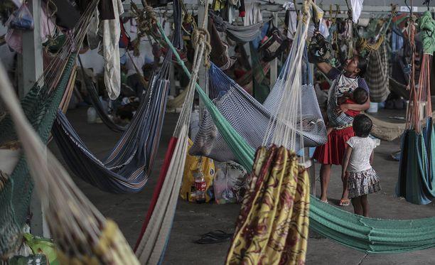 Pakolaisleiri Brasilian rajalla.